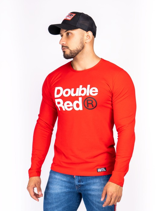 Red Neon Long Sleeve T-Shirt Red