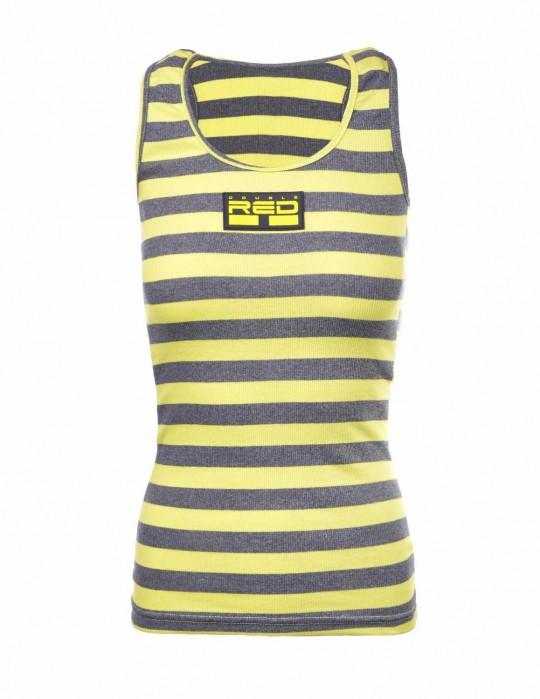 Tank Sportisyourgang YellowGrey 3d Neon Logo Yellow