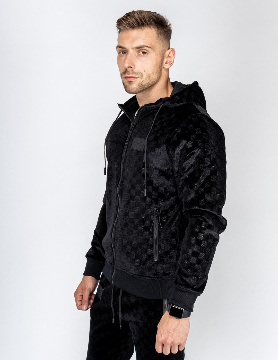 VELVET DOUBLE RED Exclusive Series All Black Tracksuit
