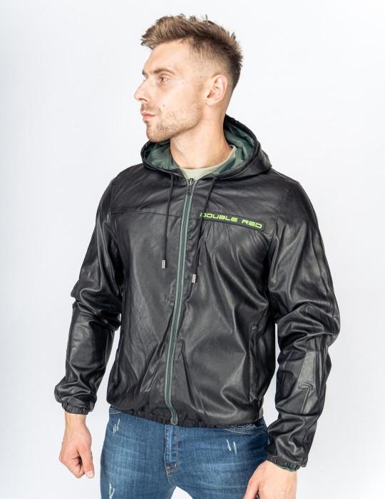 SHADE Leather Jacket 3D Logo Black