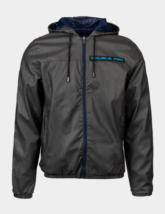 SHADE Leather Jacket 3D Logo Grey