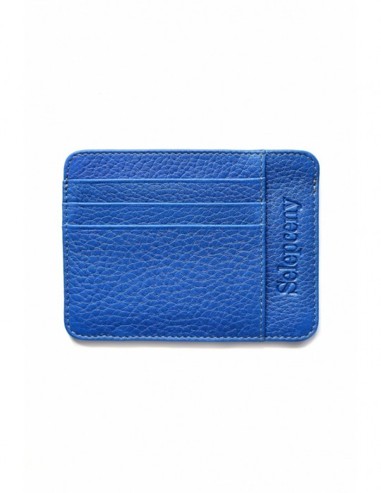 SY SELEPCENY LIGHTBLUE 100% GENUINE LEATHER CARDHOLDER