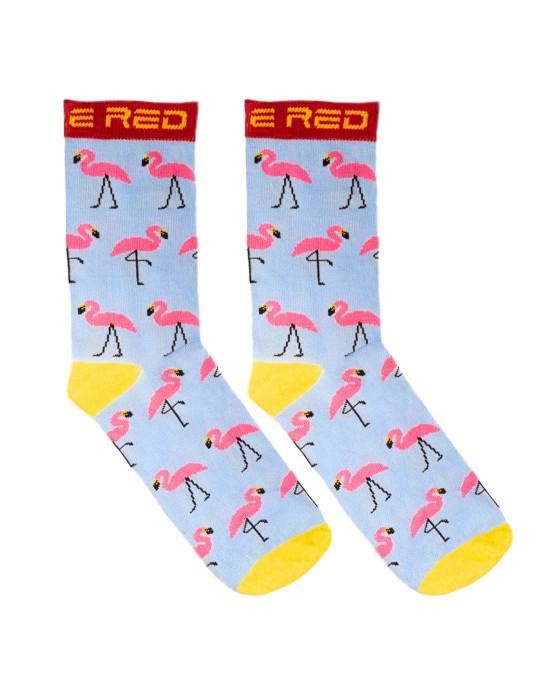DOUBLE FUN Socks Flamengo Blue Sky