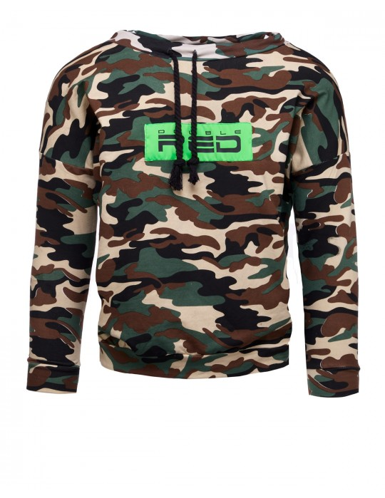 Sweatshirt Neon Streets Collection Camo Green