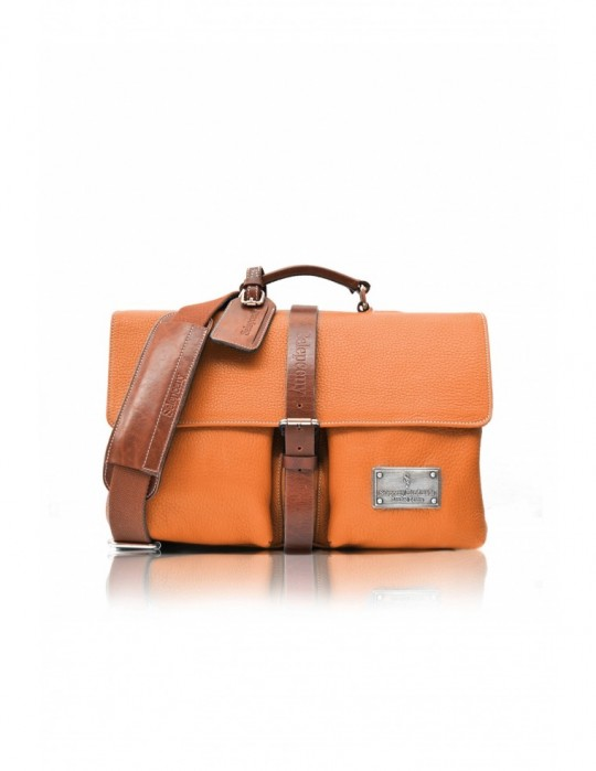 SIGNATURE ALTER ORANGE HANDMADE 100% GENUINE LEATHER BAG