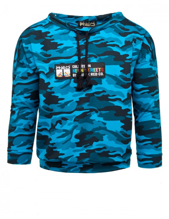 Sweatshirt Neon Streets Collection Camo Blue