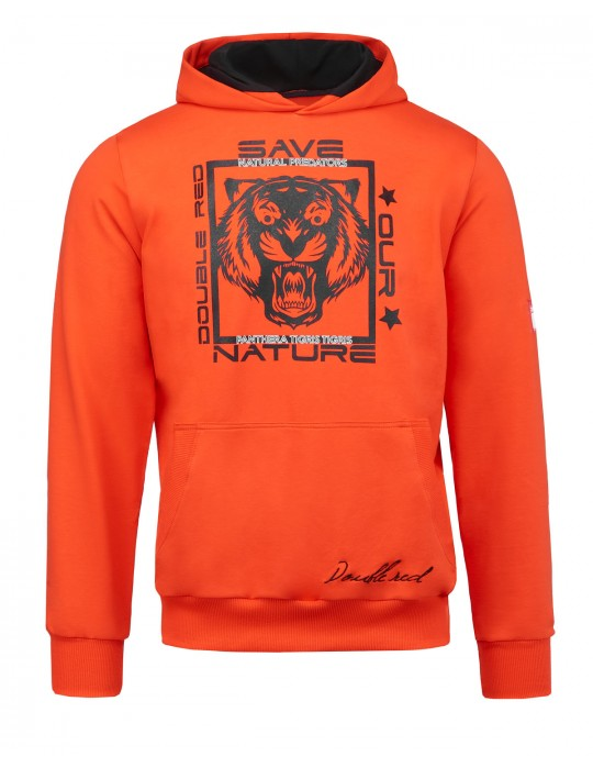 Natural Predators Tiger Hoodie Orange