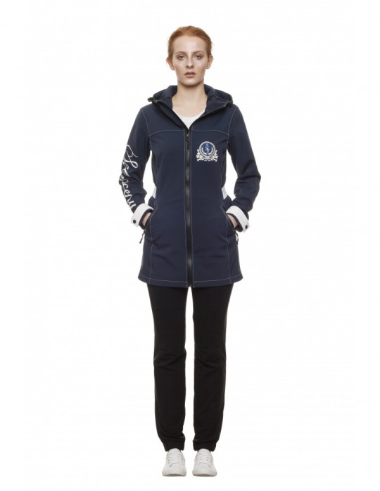 SEAMAN YACHTING 100% SOFTSHELL JACKET Dark Blue