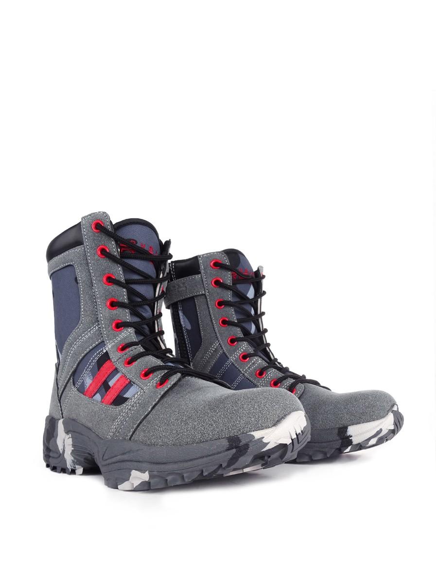 Boots Blue/Grey Camo Crazy Army Color
