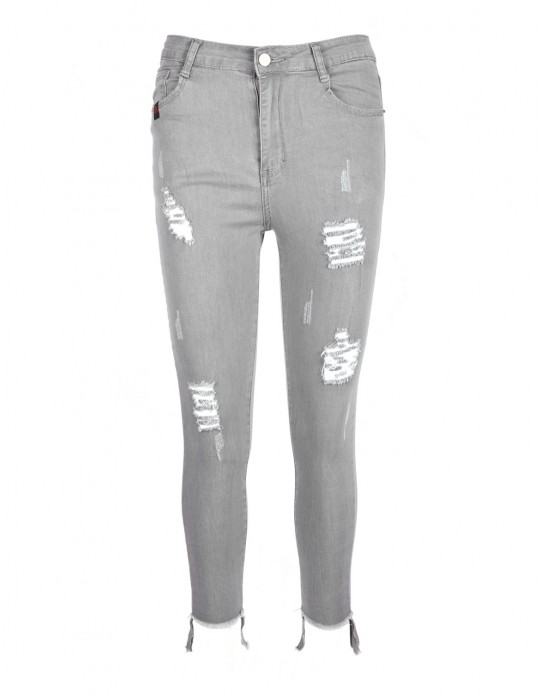 Ripped Jeans Grey