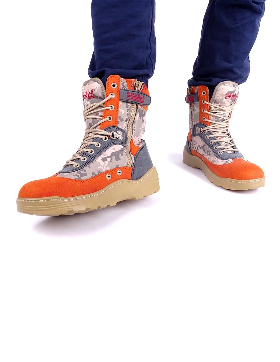 Boots Crazy Army Color Red Desert Digital Orange