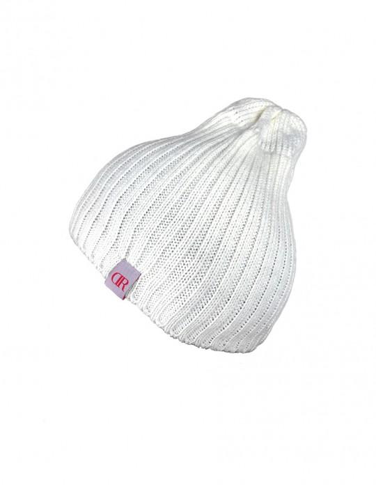 DR Knit Beanie Hat White