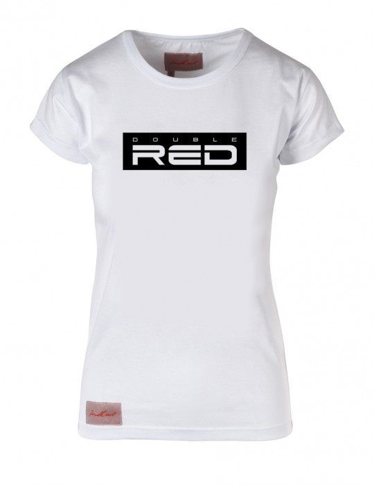 White T-shirt BASIC DOUBLE RED black