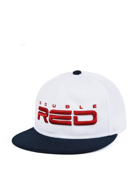 STREETHERO DOUBLE RED Snapback 3D Embroidery Dark Blue/White
