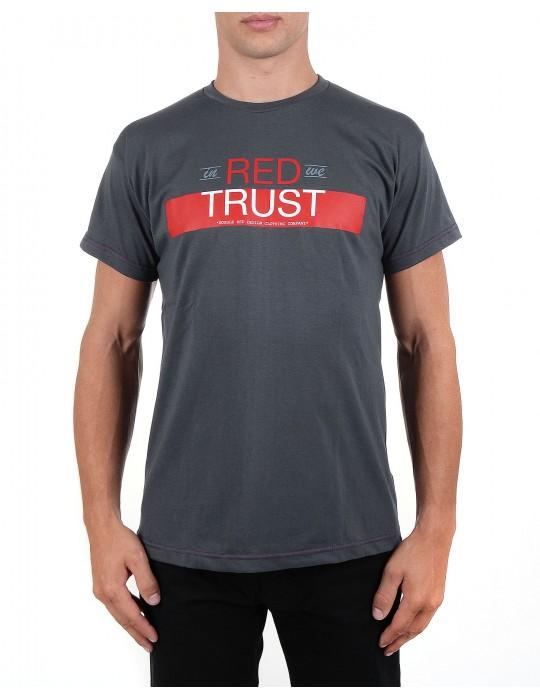Šedé tričko In Red We Trust