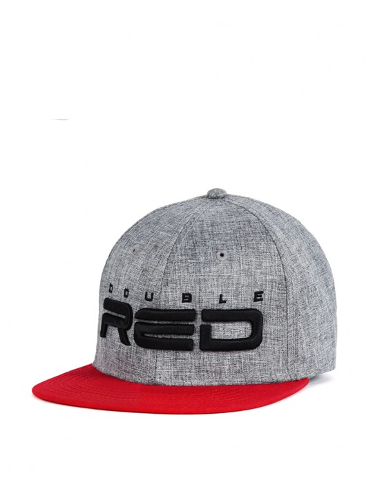 STREETHERO DOUBLE RED Snapback Melange 3D Embroidery Grey/Red