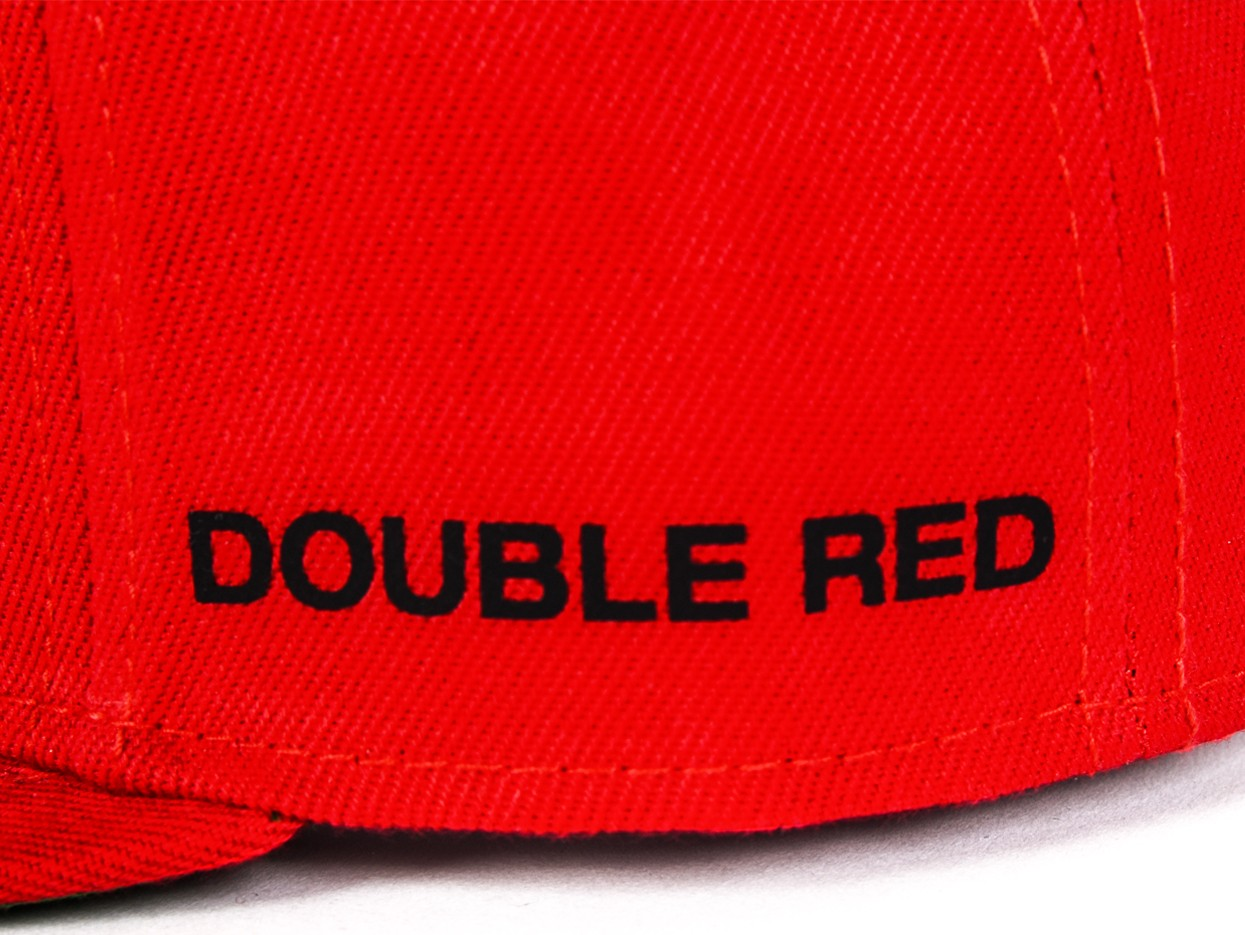 STREETHERO DOUBLE RED Snapback 3D Logo Cap Red
