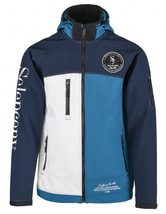 SEAMAN LIMITED EDITION YACHTING 100% SOFTSHELL JACKET Blue/White