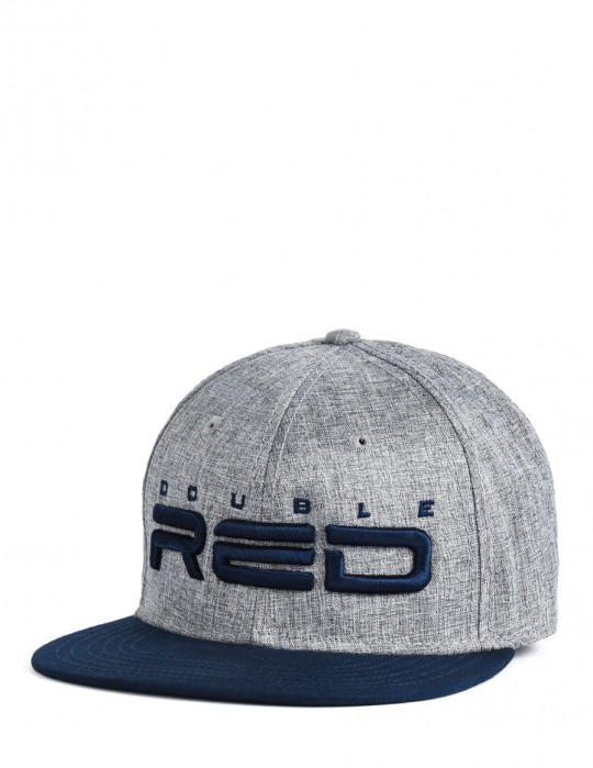 STREETHERO DOUBLE RED Snapback Melange 3D Embroidery Grey/Blue
