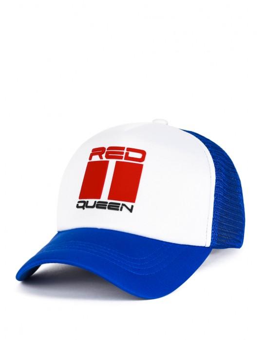 DOUBLE RED QUEEN Trucker Cap Blue/White