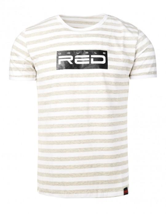 Striped T-Shirt ALL LOGO Black