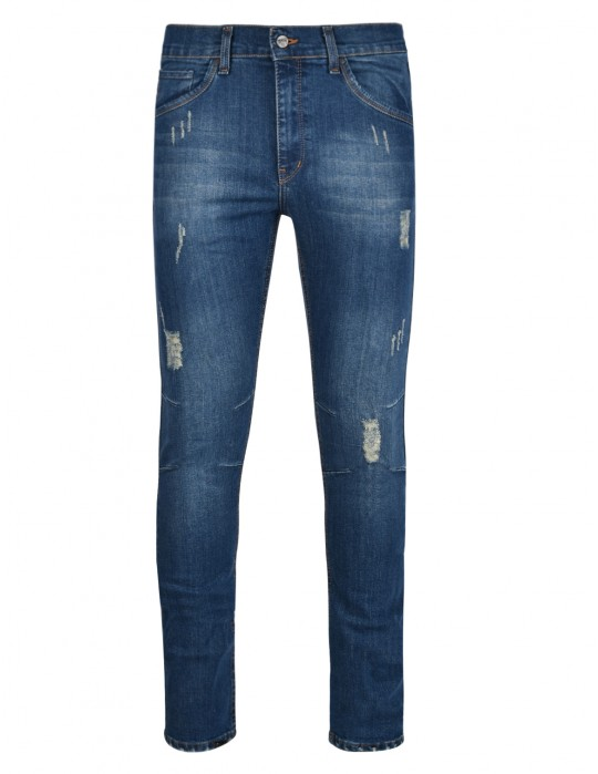 RED JEANS Rip Blue Skinny Fit