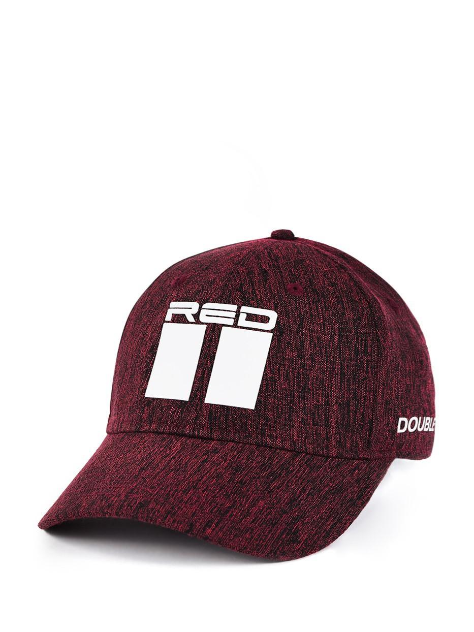 Shadows DOUBLE RED Melange Stretch Fit 3D Logo Cap Bordeaux