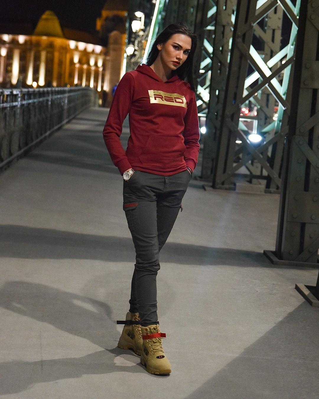 Sweatshirt GOLDFOREVER Bordeaux Basic