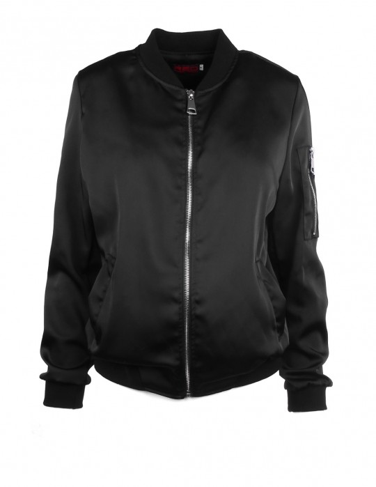 DR W Flight Jacket Satin Black