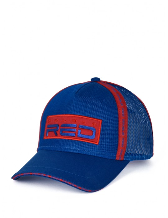 DOUBLE RED EXQUISIT Cap Blue