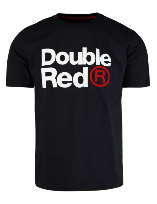 DOUBLE RED Trademark T-shirt Black SLIM FIT