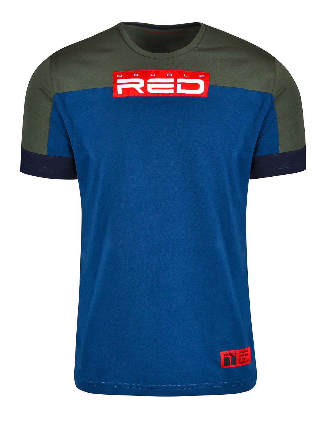 T-shirt GLORIOUS Olive/Blue
