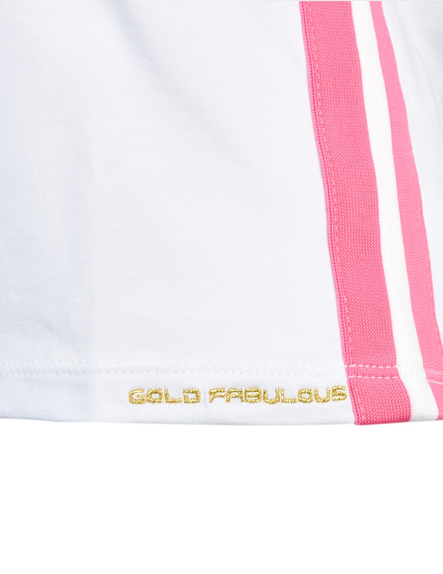 T-Shirt GOLD FABULOUS White