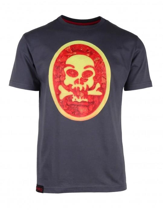 Šedé tričko SKULL