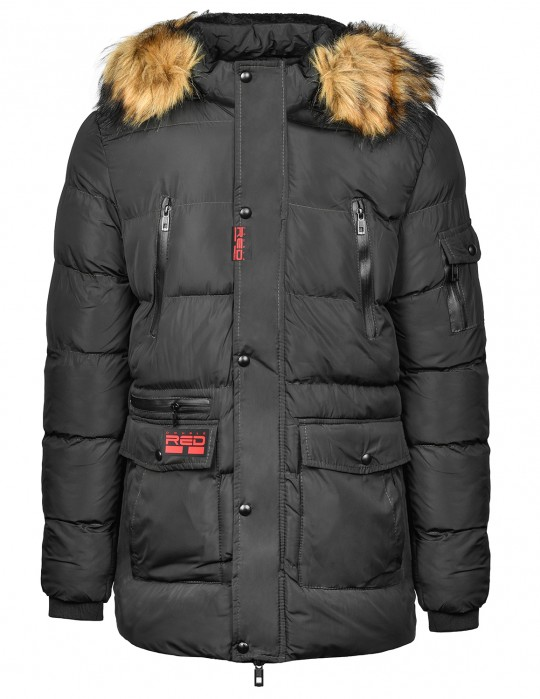RED EXPLORER Parka Black