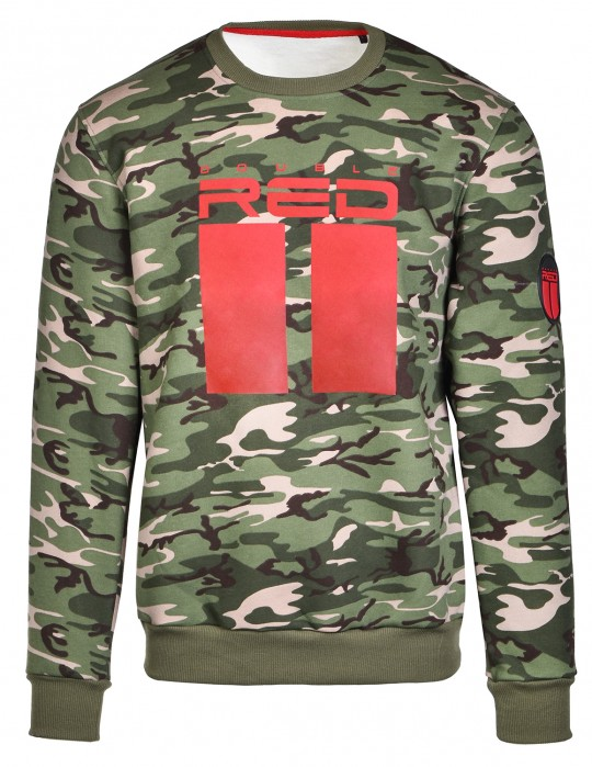 Sweatshirt All Logo Green Camo