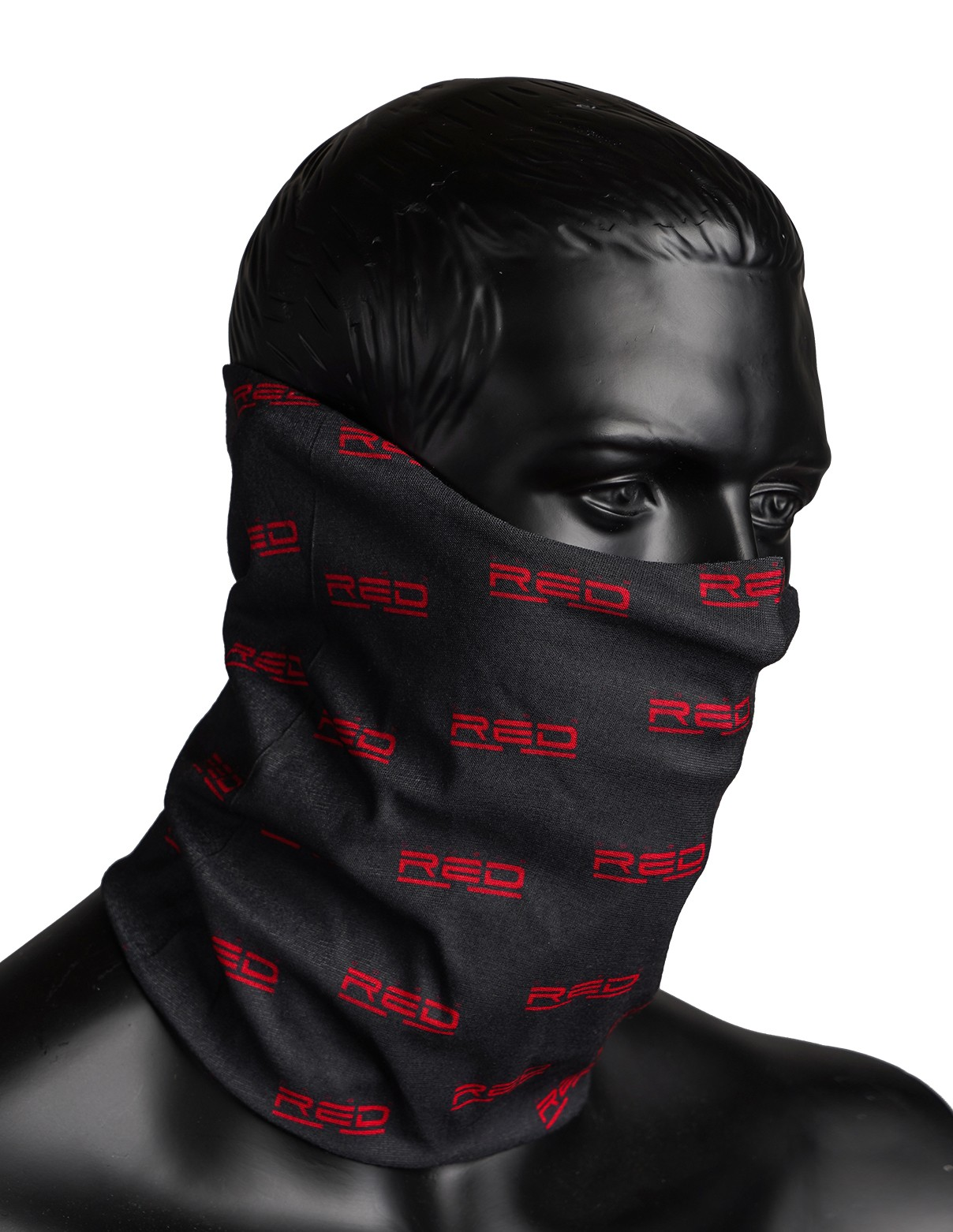 RED SQUAD Snood Full Logo Black