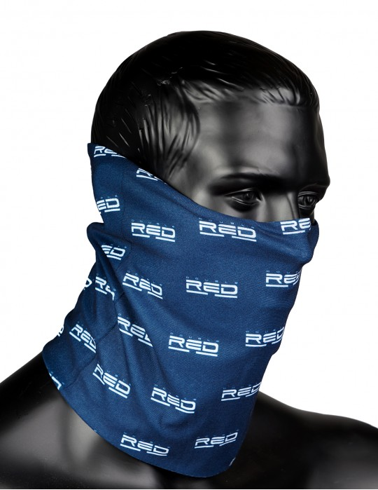 RED SQUAD Snood Full Logo Blue