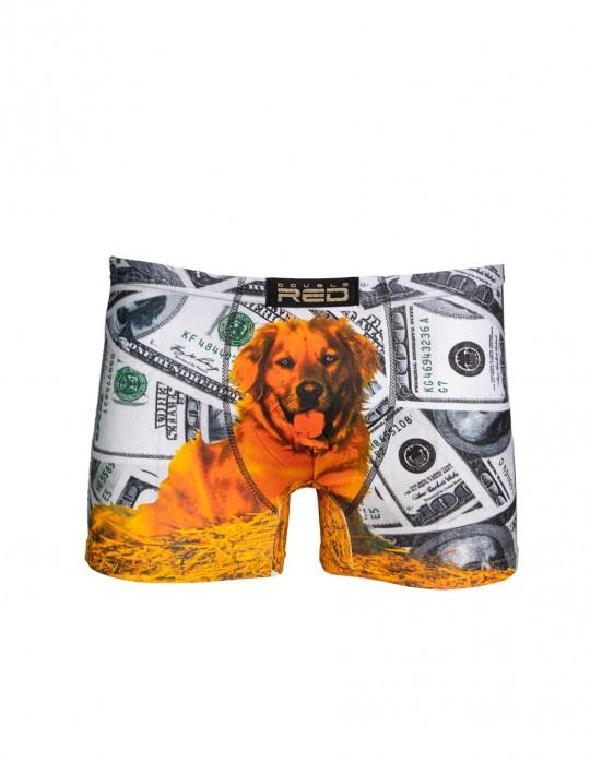2FUN Boxers Dolar Dog Grey