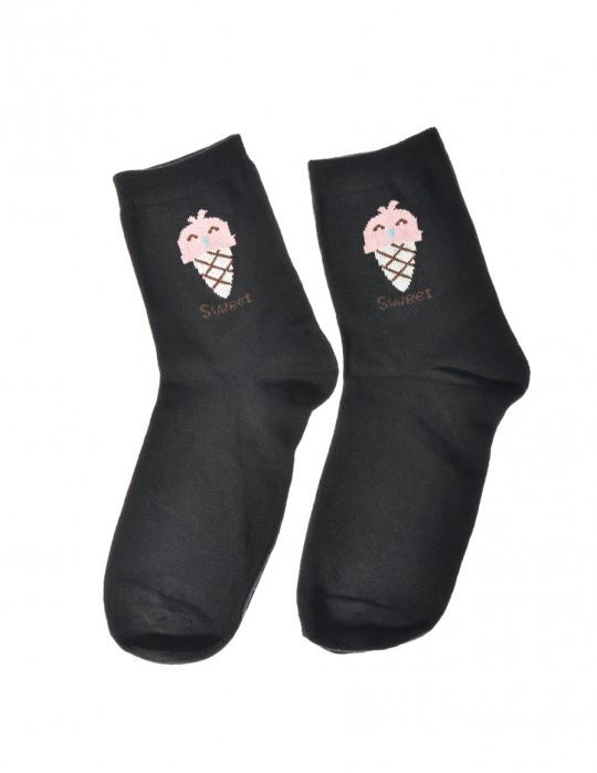 DOUBLE FUN Socks Sweet Ice Black