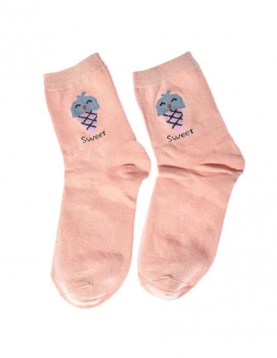 DOUBLE FUN Socks Sweet Ice Pink