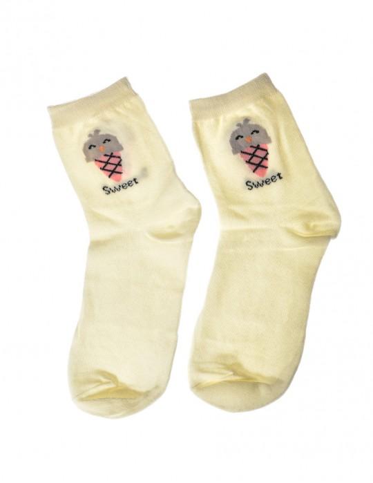 DOUBLE FUN Socks Sweet Ice Beige