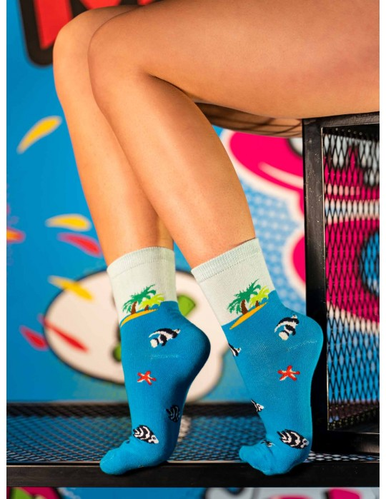 Women's FUN Socks Blue Sea